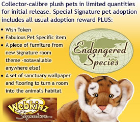 Webkinz Signature Endangered Species Logo